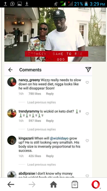 "Fans React To Wizkid's Video With P. Diddy: ""You Look Sick"""