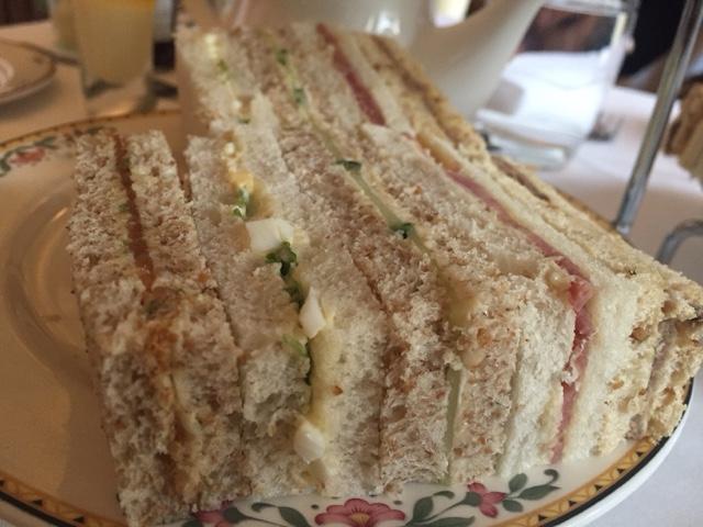 Marriott hotel afternoon tea sandwiches