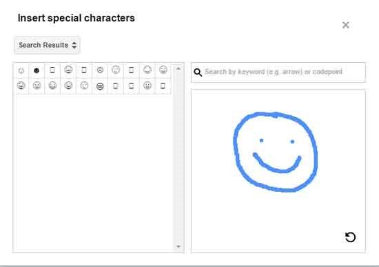 поиск по специальным символам Blogger