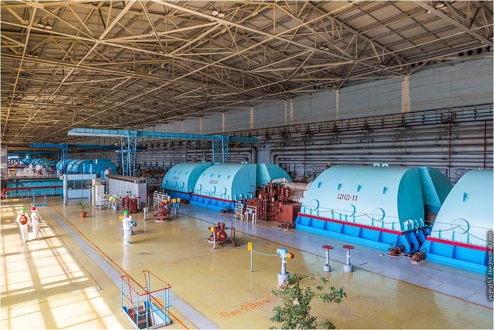 Машинный зал Курской АЭС