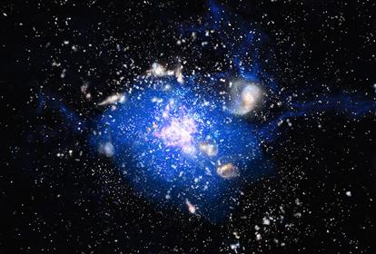 ilustração da Galáxia Teia de Aranha