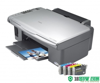 How to reset flashing lights for Epson DX5000 printer