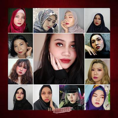Villain Make Up dengan Lipstick Purbasari Color Matte Shimmer Finish