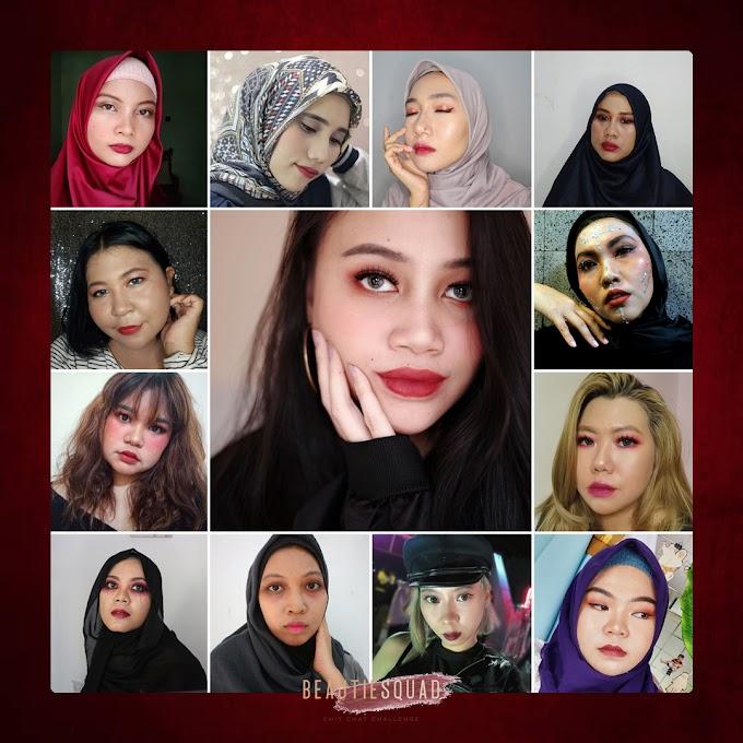 Villain Make Up dengan Purbasari Lipstick Color Matte Shimmer Finish