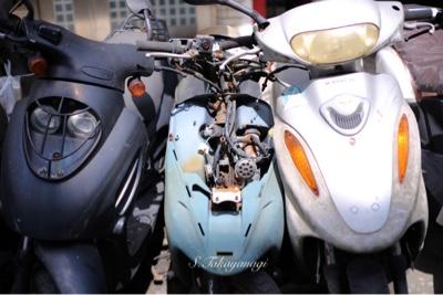 バイクは台北では欠かせない足。