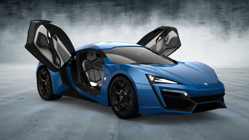 W Motors Lykan Hypersport Blue color Hd Wallpaper