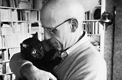 Michel Foucault and a cat