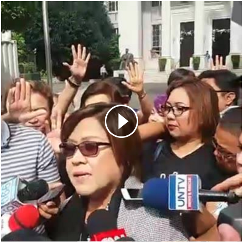 Image of Sen. De Lima Perhaps Suffering from Self-Victimization Disorder So She is Craving to Get Media Attention