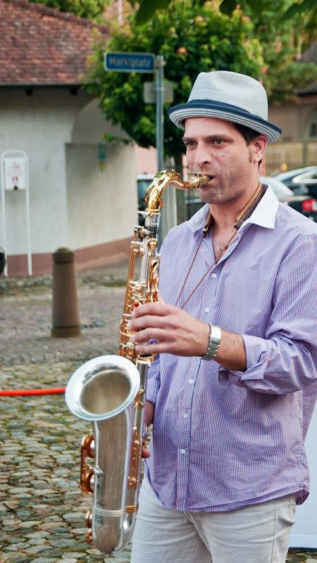 Der Saxophonist Niko Halfmann