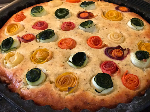 Rainbow Rose Tart