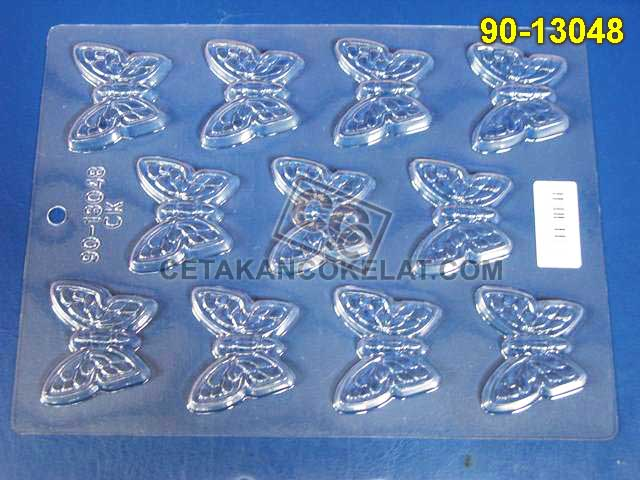 90-13048 cetakan coklat cokelat kupu-kupu kupu binatang hewan serangga