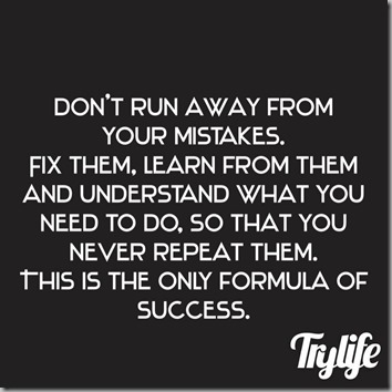 dont run from mistakes