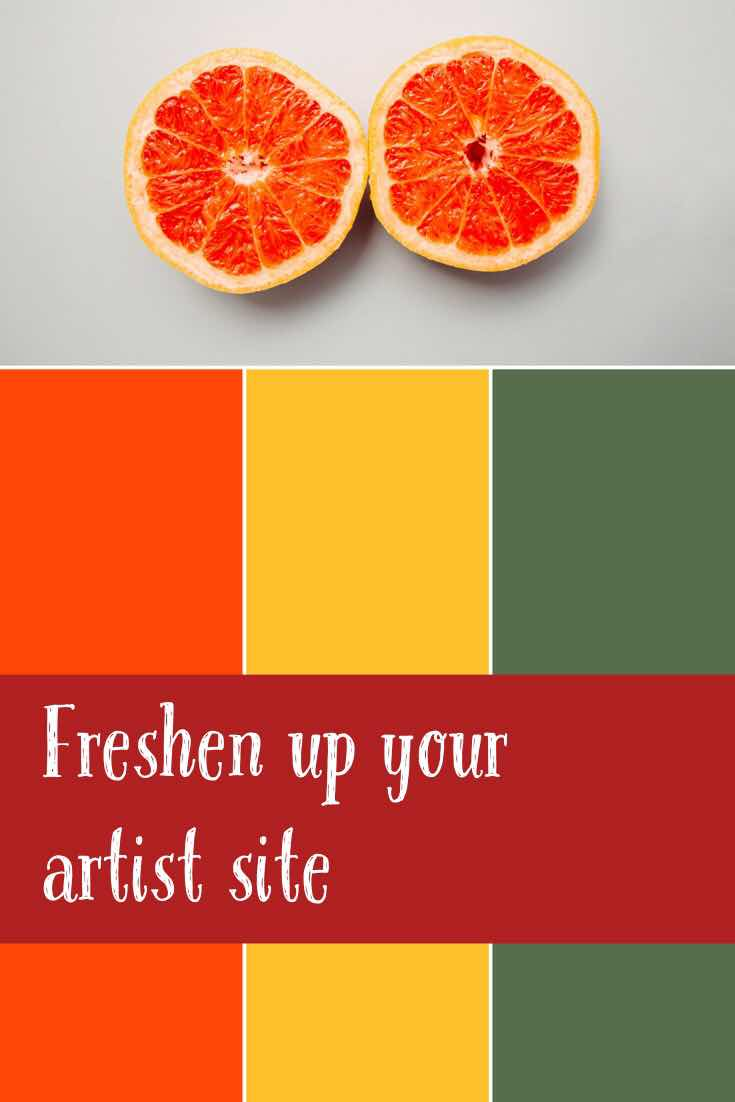 freshen up your art portfolio website