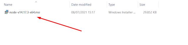 Installer node js