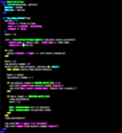 Fragmento de código ofuscado 2: métodos excesivamente largos