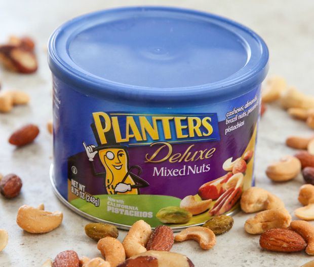 photo of a package of Planters Deluxe Mixed Nuts