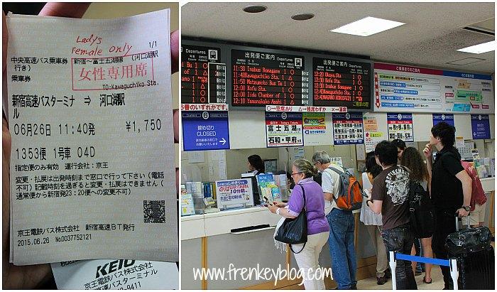 Tiket dan Loket Tiket ke Kawaguchiko Station