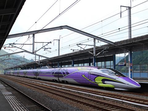 JR西日本 山陽新幹線「こだま741号」500 TYPE EVA 新岩国駅にて その1