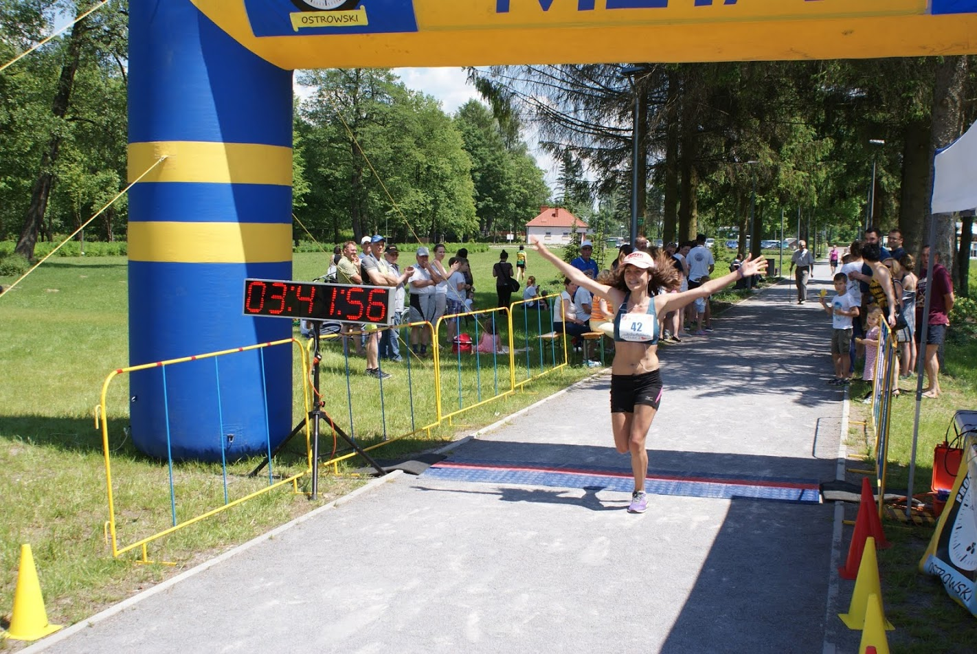 Любовь Сыч и Ксения Рыжова на польском марафоне