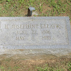 H. (Helen) Josephine Gleaves Daughter of Robert Harvey and Julia Gleaves The Gleaves Family Cemetery Cripple Creek, Wythe County, Virginia
