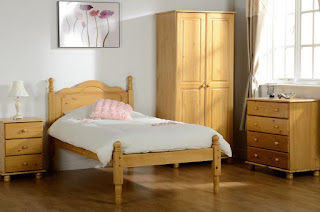 Lovely Sol bed frames in antique pine finish