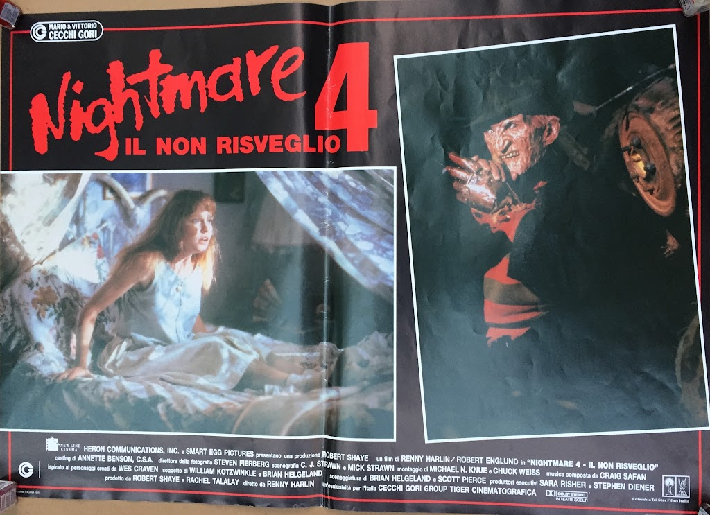 Italian Lobby card Nightmare 4 6 of 6  26x19 #1
