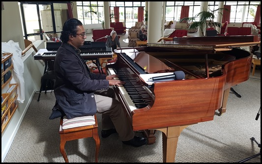 Celebrity pianist, Ben Fernandez, generously came along and played a mini-concert for us on the Village's Steinway grand piano.