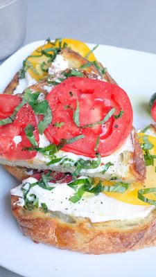 Shift Bruschetta - fresh ricotta, tomato, and basil