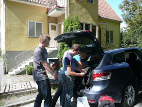 Photo: Packing the rented car