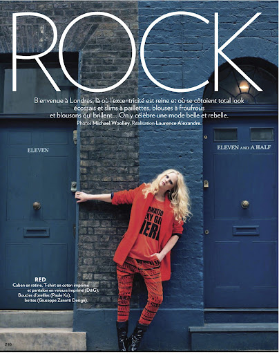 Rock-Marie Claire France-September 2011