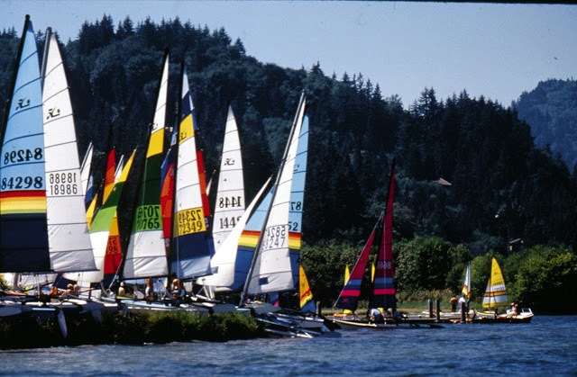 Hobie cat race on Bellingham Bay. / Credit: Bellingham Whatcom County Tourism