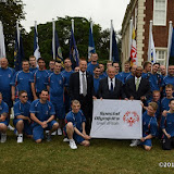 OIC - ENTSIMAGES.COM - John Hudson, Gordon Taylor , Bobby Barnes with The Special Football Team at the  Official Reception at US Ambassador's Regents Park Residence  for Special Olympics GB's World Games team London  20th July 2015 Photo Mobis Photos/OIC 0203 174 1069