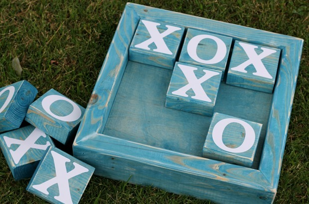 2x4 tic tac toe by GingerSnapCrafts.com