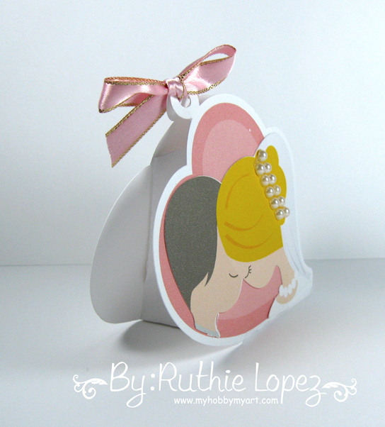 Blog Hop Amor Eterno - Latinas Arts and Crafts - Cajita de dulces para boda. 3