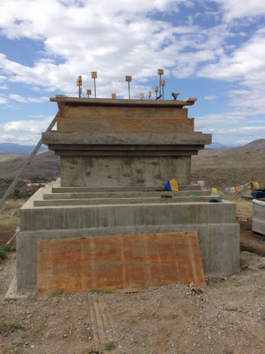 The second chamber of the stupa waiting to be filled, September 2013