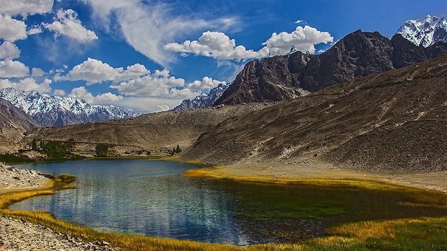 Borith Lake by Riaz Paras - Landscapes Mountains & Hills ( pakistan, hills, mountains, borith-lake, lake, hunza, riazparas, beautiful-lake,  )