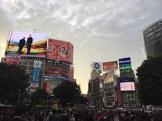 帰りの渋谷駅前