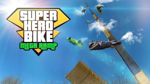 Super Hero Bike Mega Ramp - Racing Simulator  screenshots 5