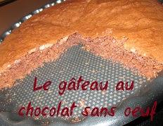 recette du Moelleux au chocolat sans oeuf
