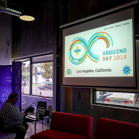 Setup Time - Arduino Day LA 2018 via My Instagram