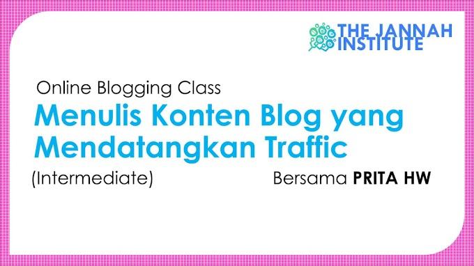 Akhirnya Ikutan Kelas Blog Online dengan Mentor Prita HW
