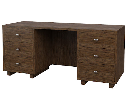 Aurora Executive Desk in Hayes Quarter Sawn Oak