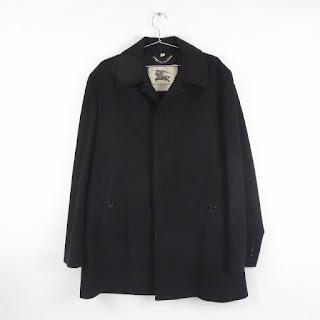 Burberry Prorsum Black Wool Balmacaan Jacket