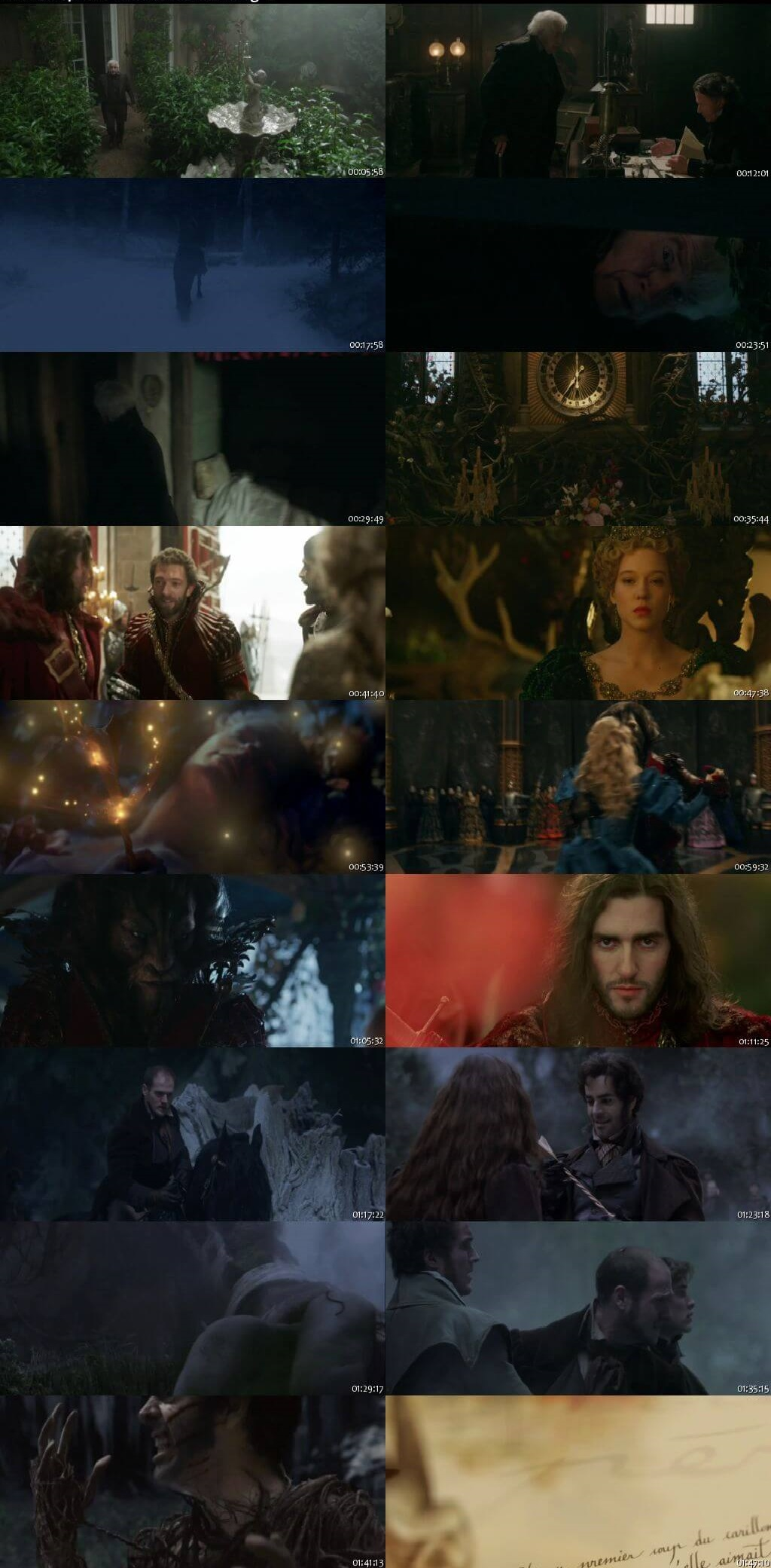 Screen Shot Of Beauty and the Beast 2014 300MB Full Movie Hindi Dubbed Free Download 480P BRRip Small Size PC Movie