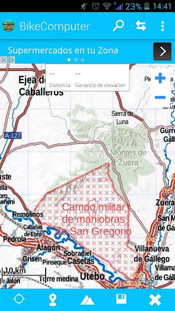 superficie campo de maniobras de San Gregorio Zaragoza