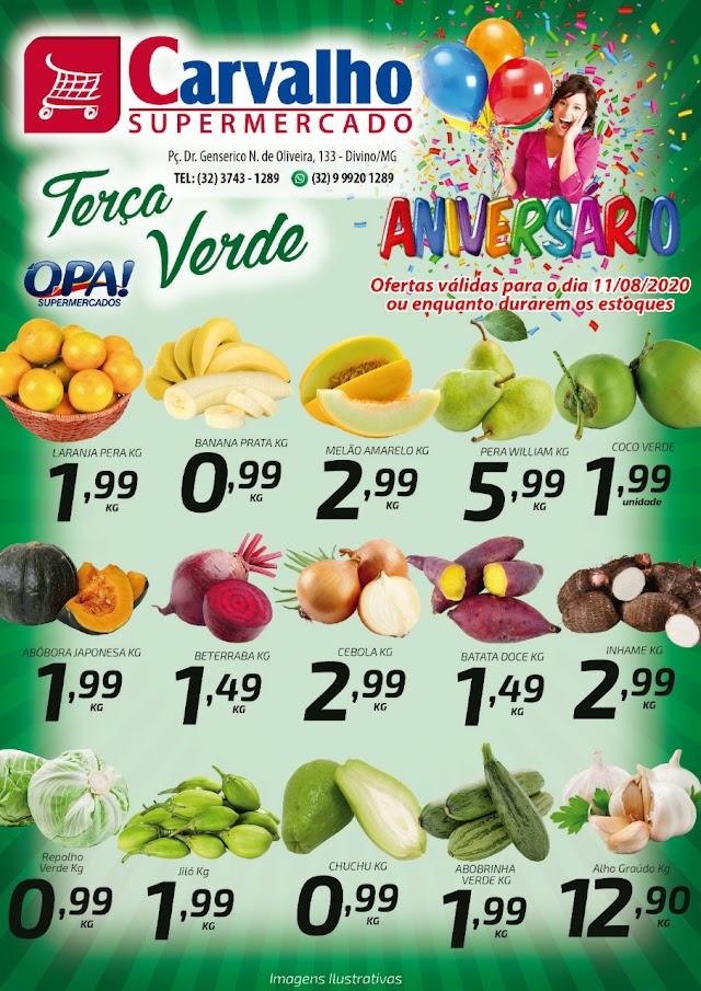 Terça Verde é no Carvalho Supermercado; Confira