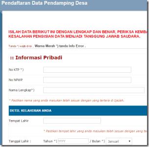 Cara Pendaftaran Pendamping Desa Pegawai non CPNS 2015