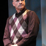 "Marty O'Connor in ""Foreplay: or the Art of the Fugue"" as part of THE IVES HAVE IT - January/February 2012.  Property of The Schenectady Civic Players Theater Archive."