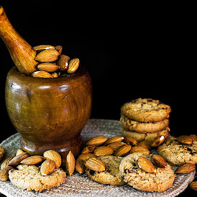 Almond Cookies by William Ay-Ay - Food & Drink Eating (  )