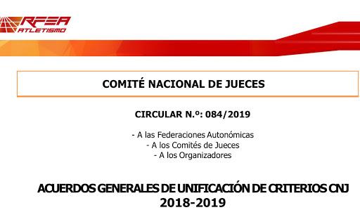 ACUERDOS GENERALES DE UNIFICACIÓN DE CRITERIOS CNJ 2018-2019